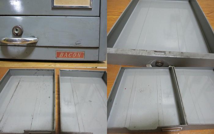 FS018 スチールの小引き出し レターケース