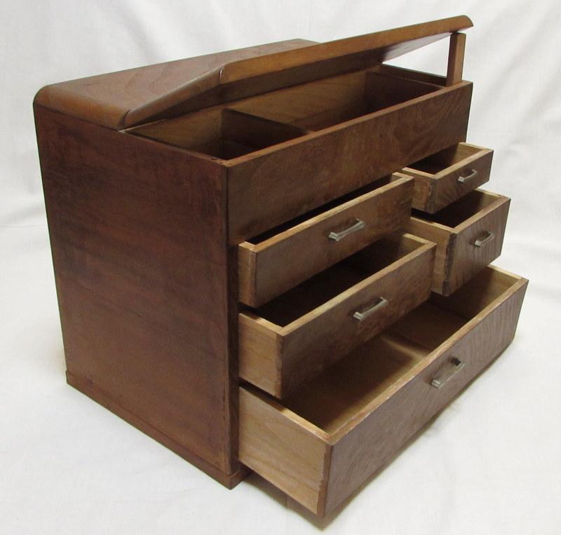 FS027 古いお針箱 裁縫箱 04
