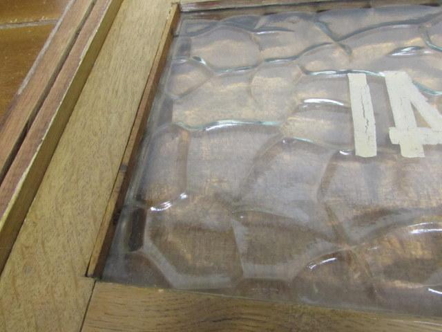 古い窓枠 銭湯のロッカーの扉『41』 レトロガラス入り