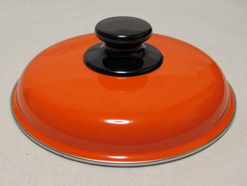 RP034 藤井商店 ホーロー両手鍋 20cm オレンジ