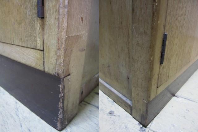 FS006 モールガラス入りの戸棚 収納棚