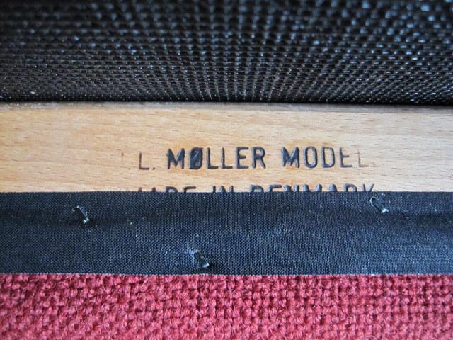 J.L.Moller ダイニングチェア No.78  ワインレッド