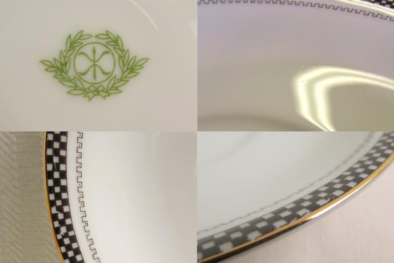 オールドノリタケ カップ&ソーサー 市松模様 幾何学模様の縁取り