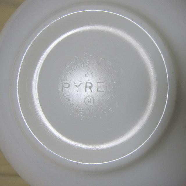 OLD PYREX オールドパイレックス シンデレラボウルL バタフライゴールド