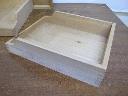 木箱2型3個セット 木製フラットトレイとフラットドロワー