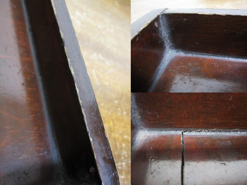 古い漆塗りの木箱 03