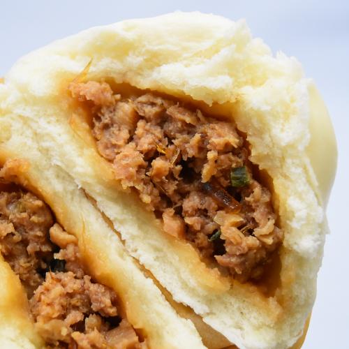 【りーろんフカヒレ豚まん】甘辛い醤油味が特徴のお饅頭