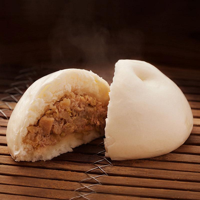 I:ブタまん+中華風牛肉味噌漬け