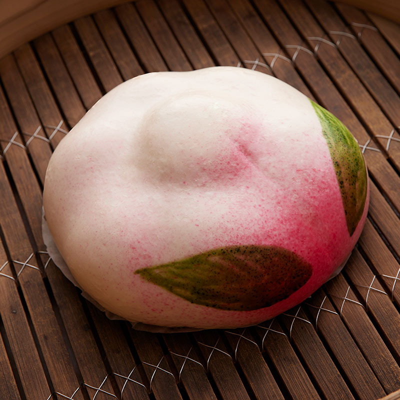 桃の子宝まん かわいい桃まんが8個(化粧箱入り)