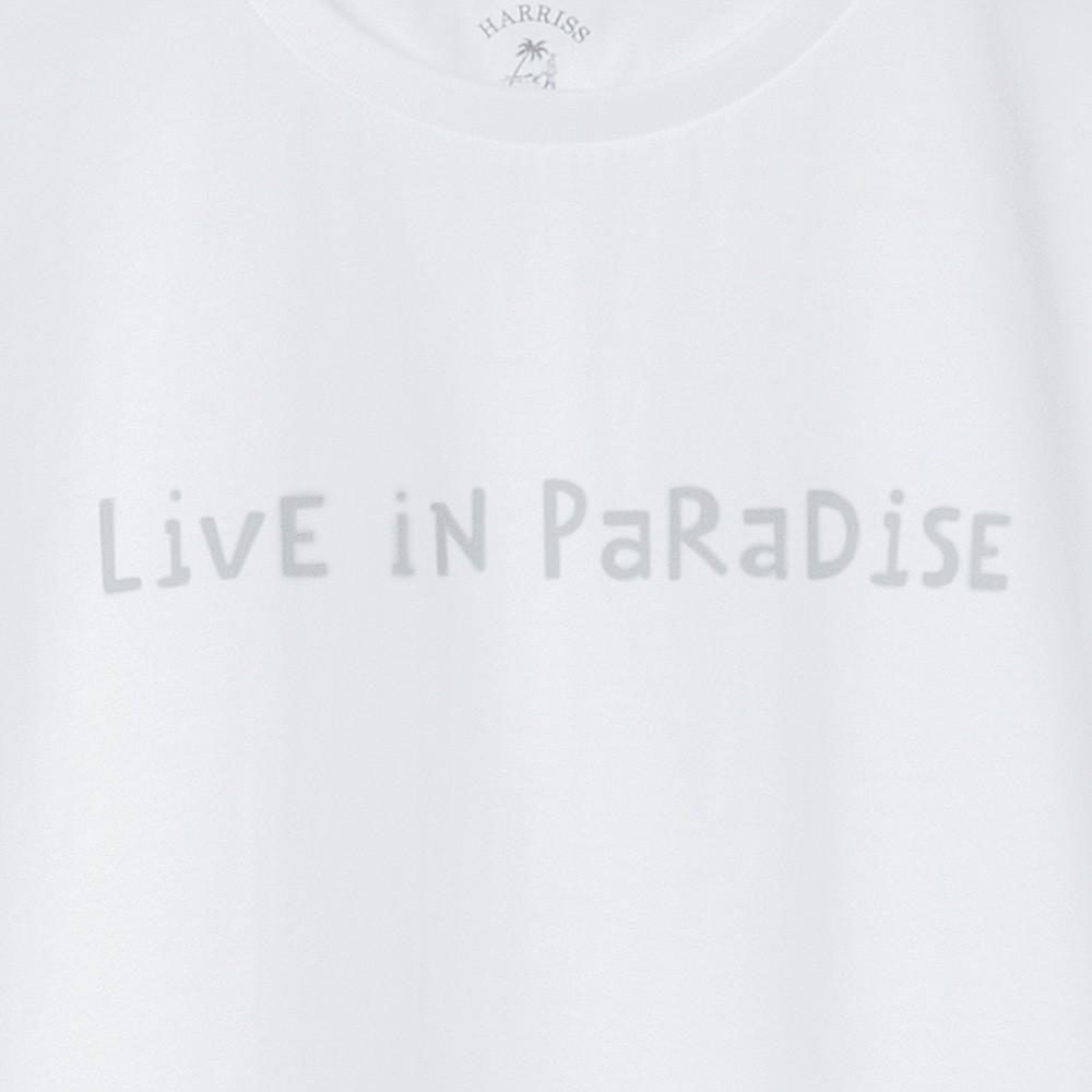 "[Harriss Hawaii]  ""LiVE IN PaRaDiSE"" T-SHIRT"