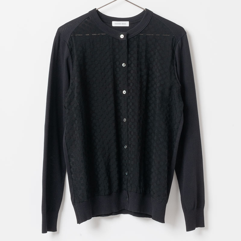 [Harriss GRACE]CREW DOT CARDIGAN