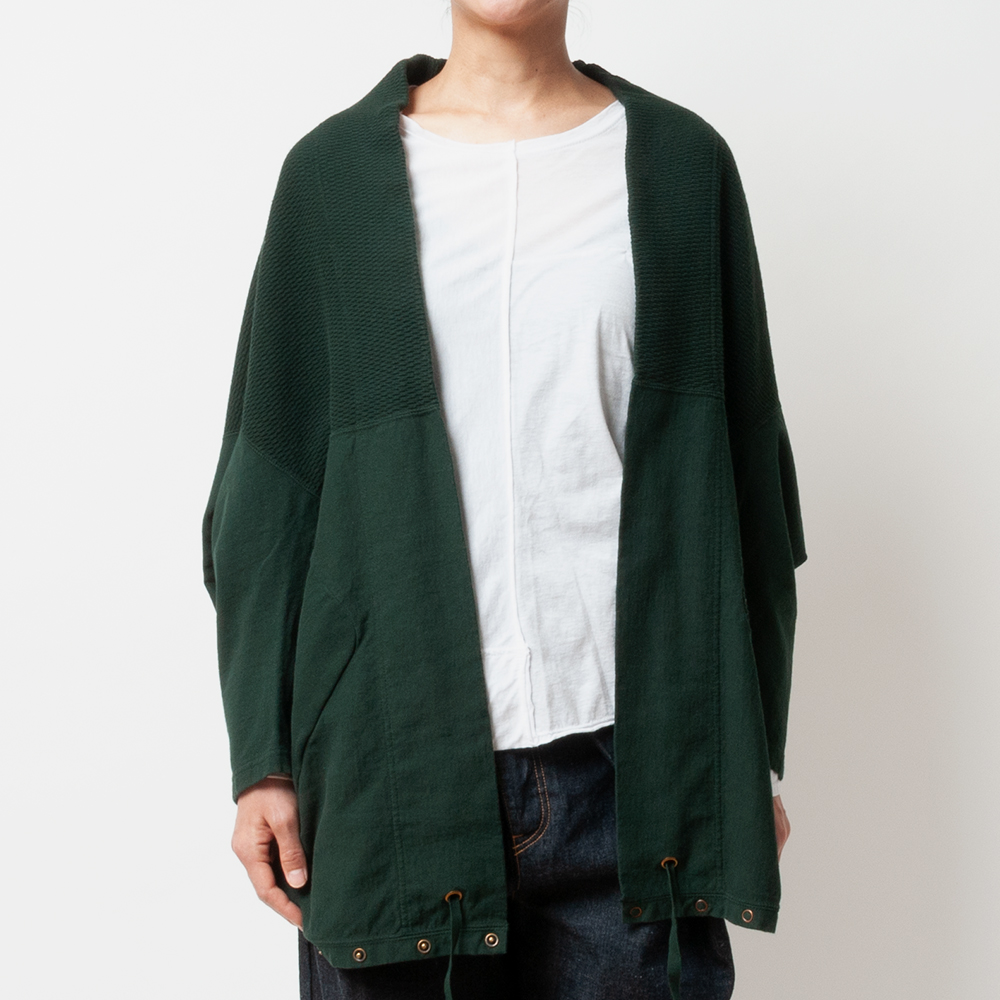 [RaPPELER] PRODUCT DYEING 4WAY CARDIGAN_GREEN