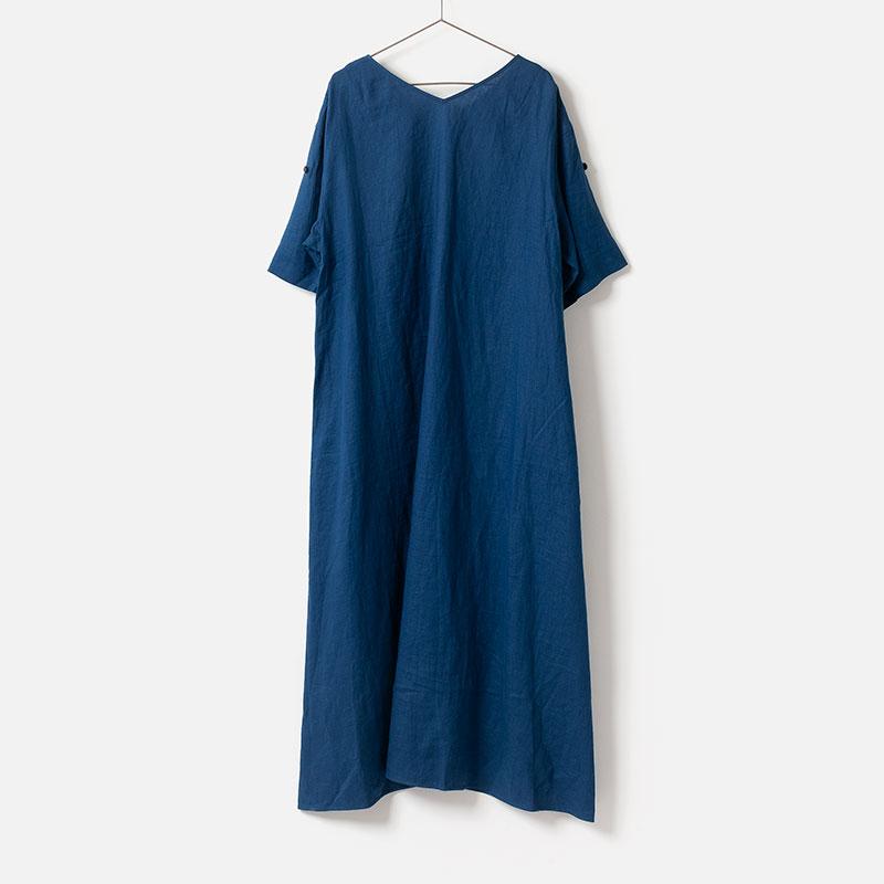 [le ciel de HARRISS] BACK V-NECK A-lLINE DRESS