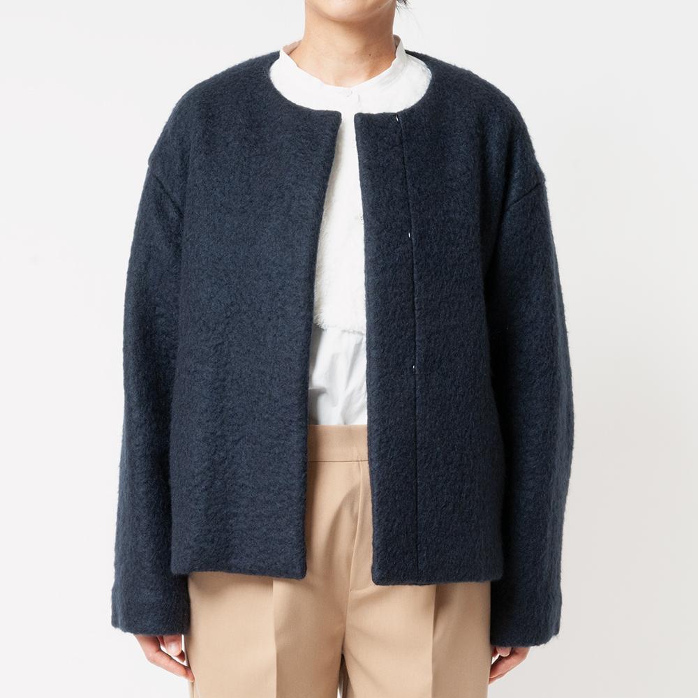 [Harriss] COLLARLESS SHORT COAT