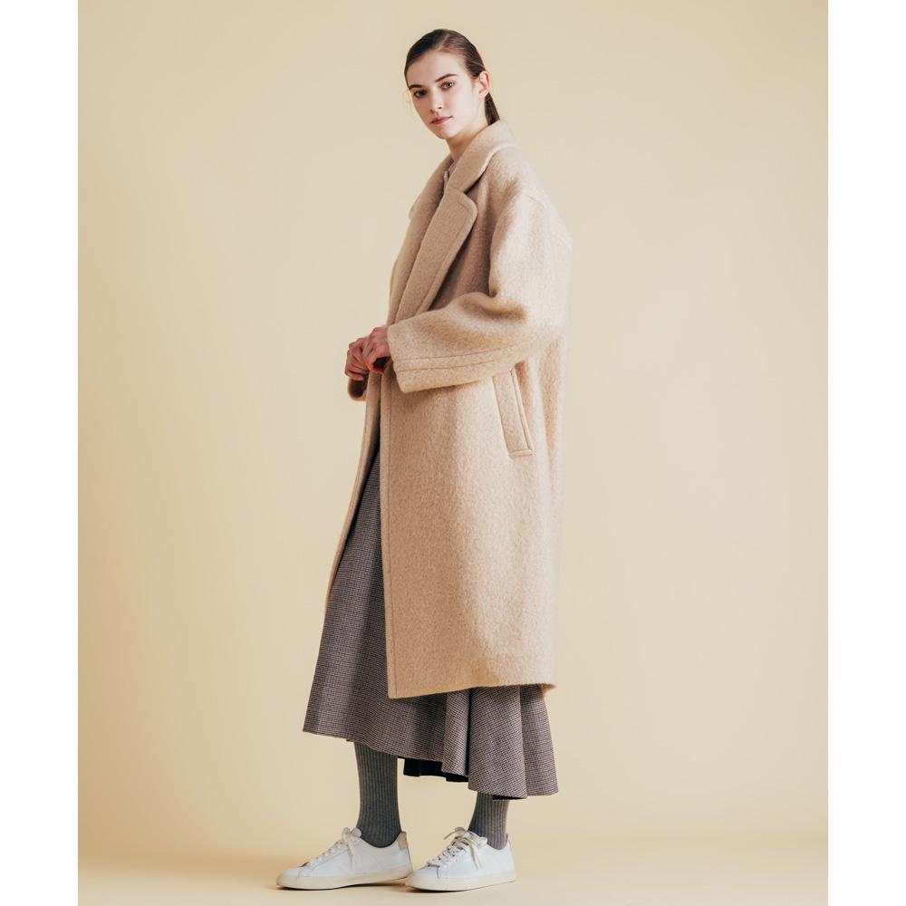 [Harriss] MOHAIR BIG COLLAR COAT