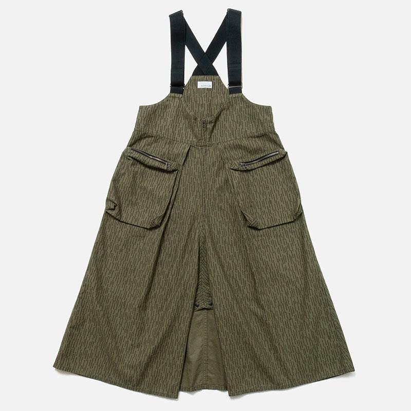 [RaPPELER] Rain camouflage 3way suspenders skirt_olive