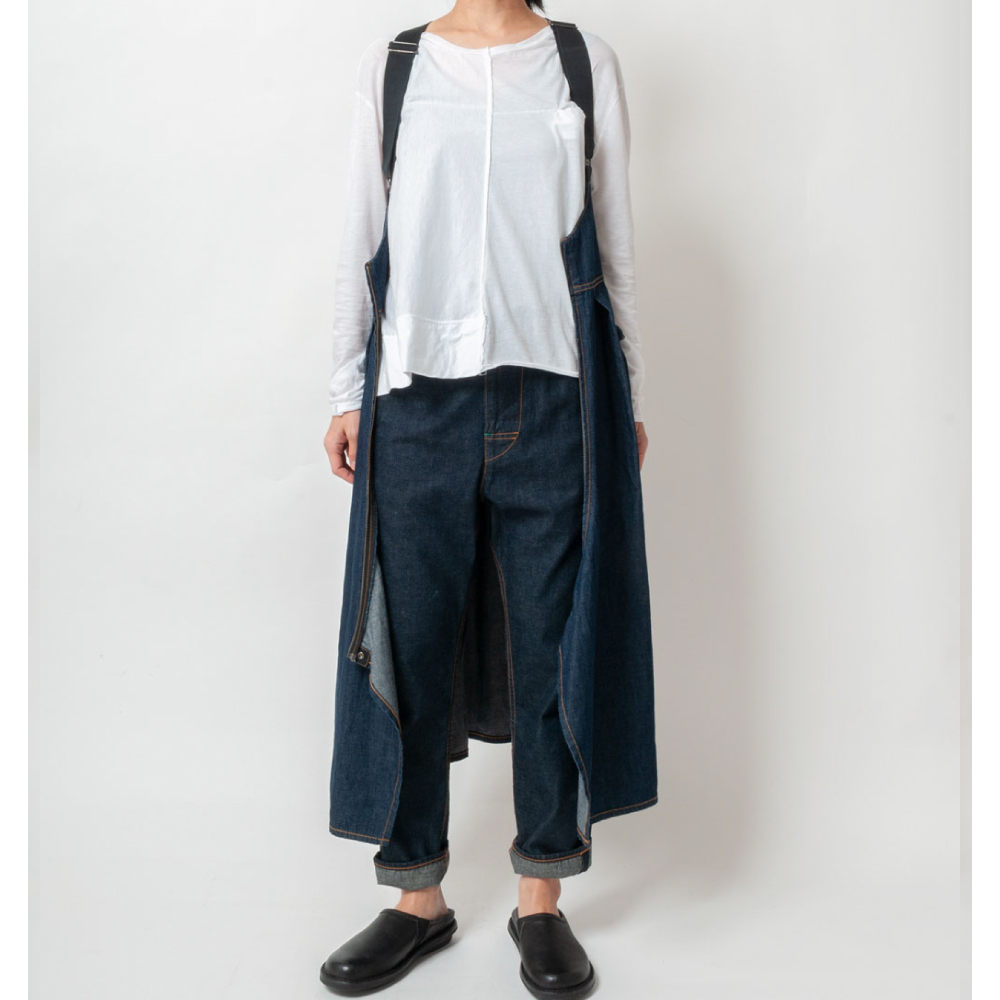 [RaPPELER] 3way suspenders skirt_denim