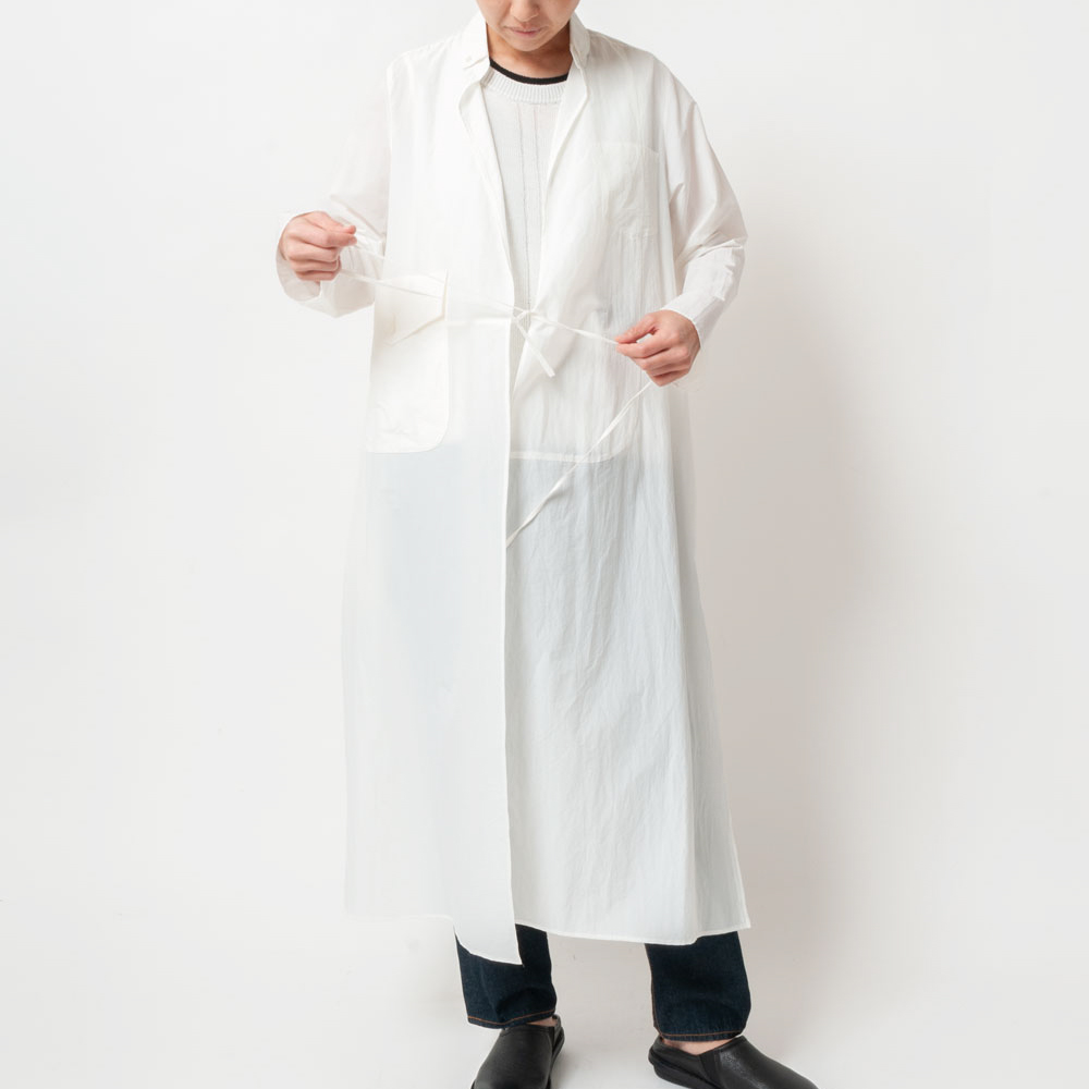 [RaPPELER]  Taffeta pocketable robe coat_white