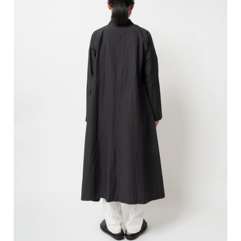 [RaPPELER] Taffeta pocketable robe coat_black
