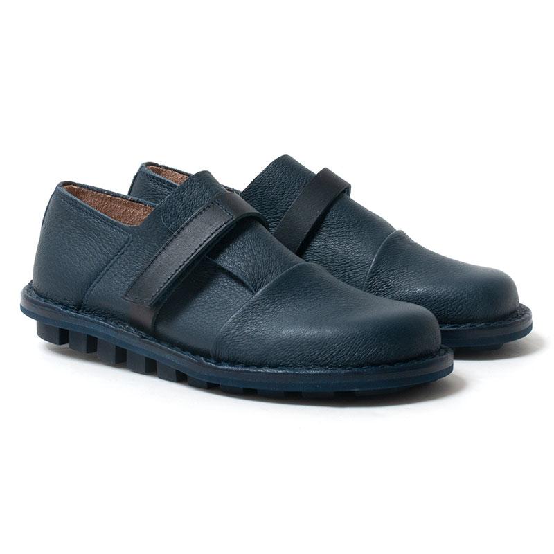 [trippen] Oskar f ( navy-elk / blue-wax )