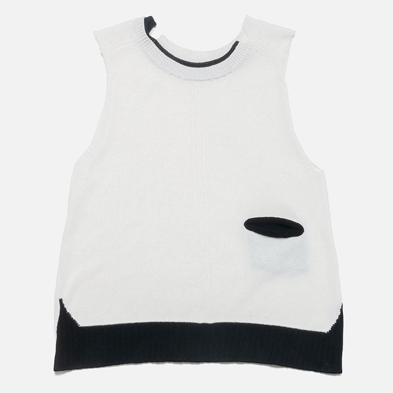 [RaPPELER]  Asymmetric 2 way vest_white