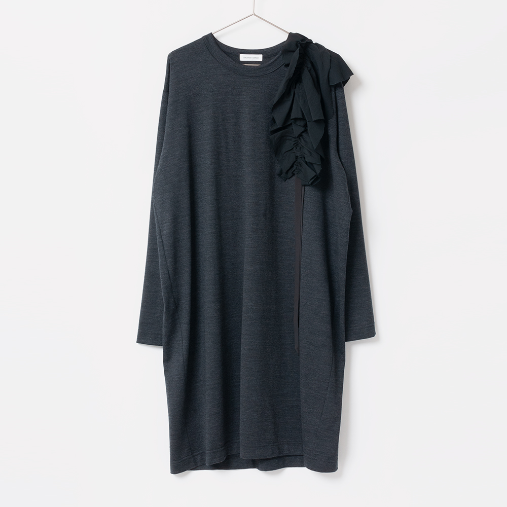 [Harriss GRACE] TUNIC SHIRT WITH ATTACHED COLLAR