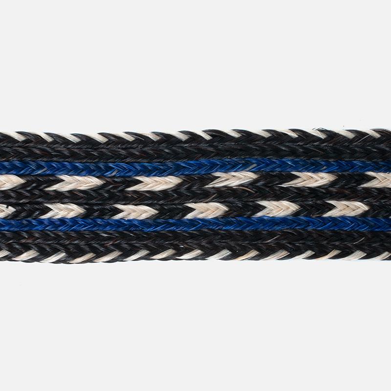 [Harriss] HORSE HAIR BELT_BLACK × BLUE(80)