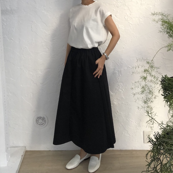 [Harriss ] RELAXATION GATHERED SKIRT