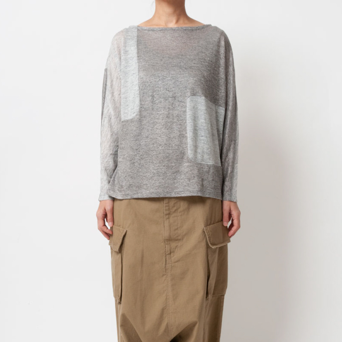 [RaPPELER] 2way washer linen long sleeve pullover_light gray