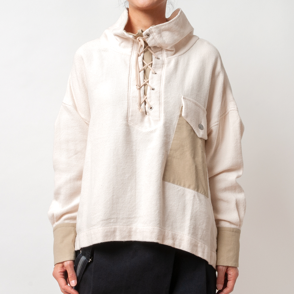 [RaPPELER] RACE UP PULLOVER_OFF WHITE