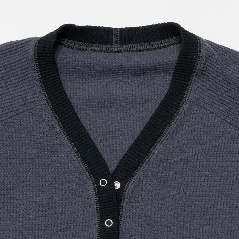 [RaPPELER]  3way cotton waffle cardigan_gray