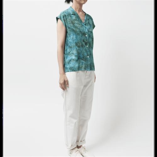 [Harriss Hawaii] Open collar french slv shirt(31)