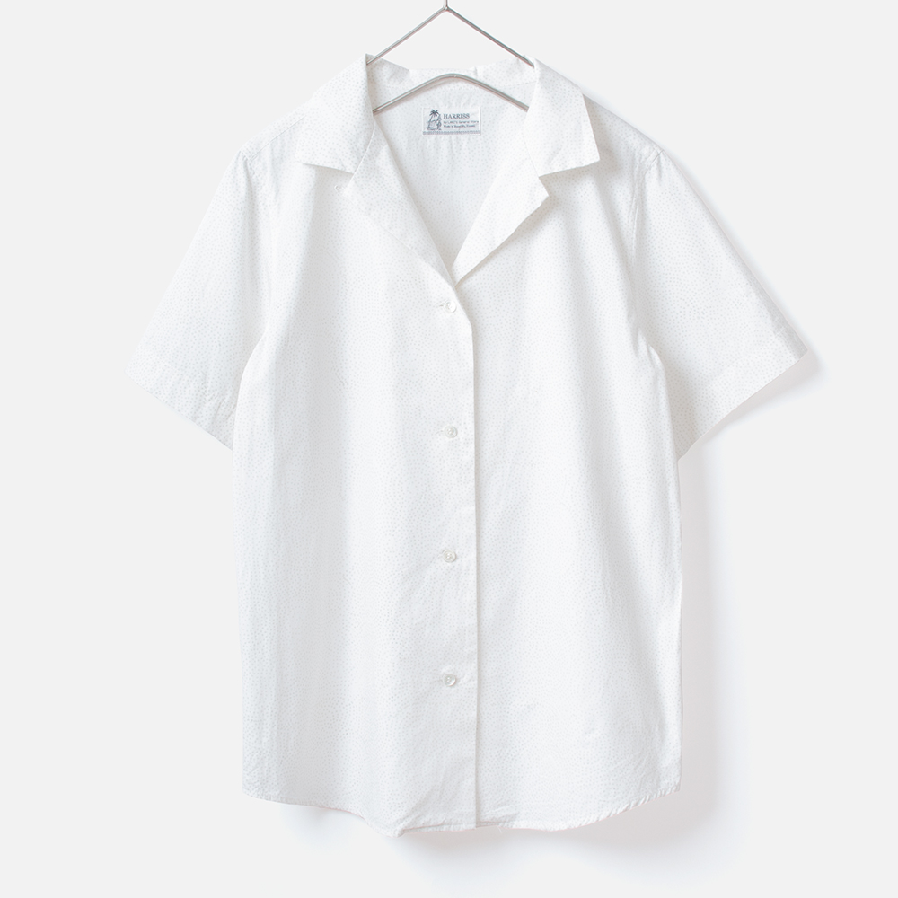 [Harriss Hawaii] Open collar shirt