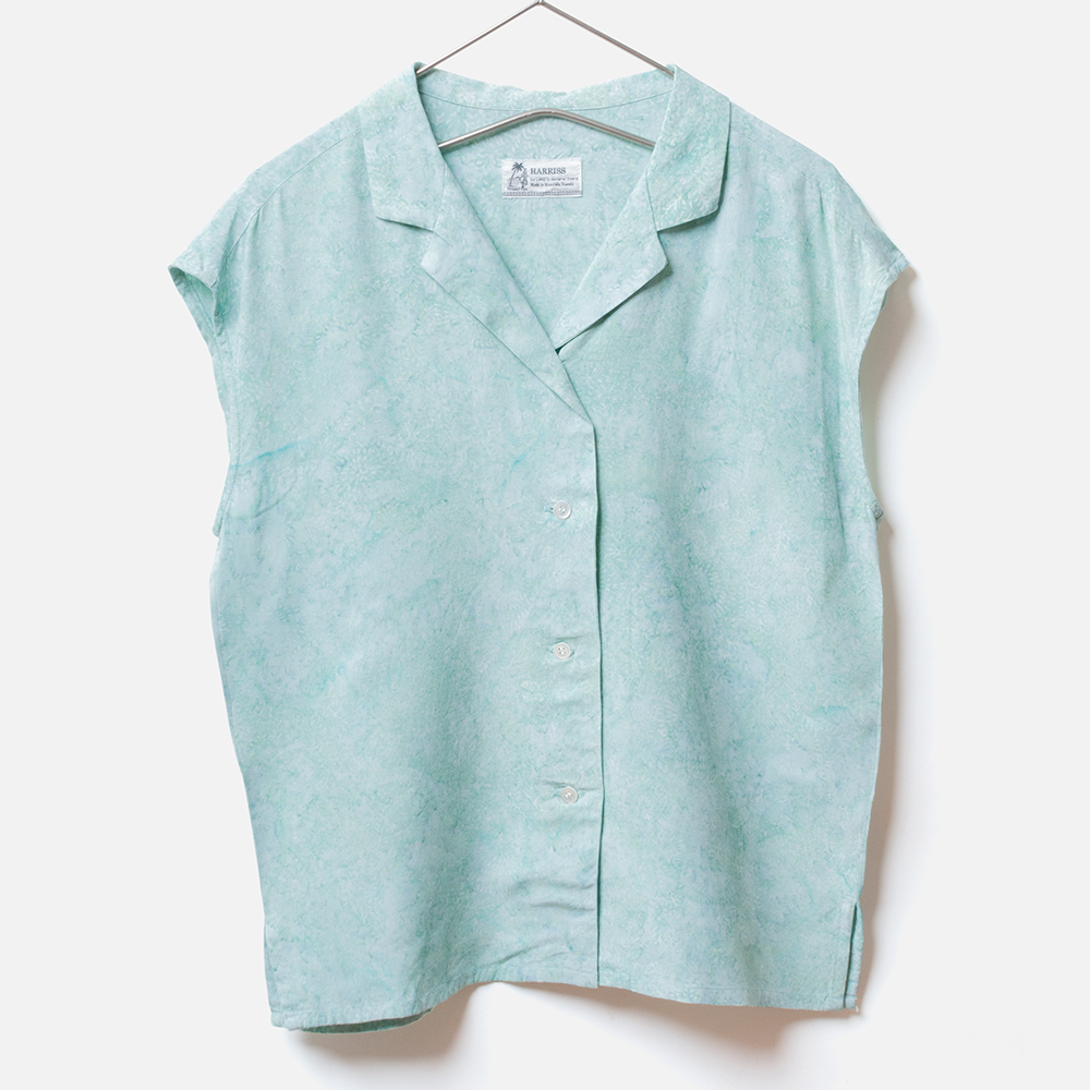 [Harriss Hawaii] Open collar french slv shirt(33)