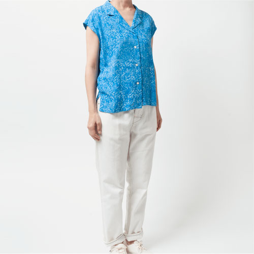 [Harriss Hawaii] Open collar french slv shirt(52)