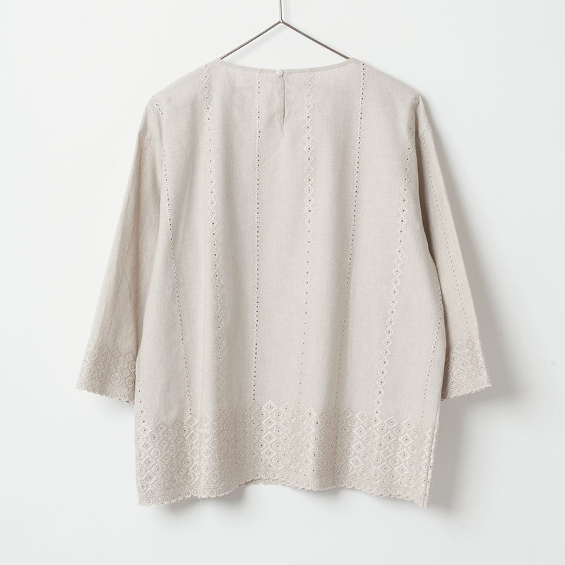 [Harriss ] PANEL EMBROIDERY BLOUSE