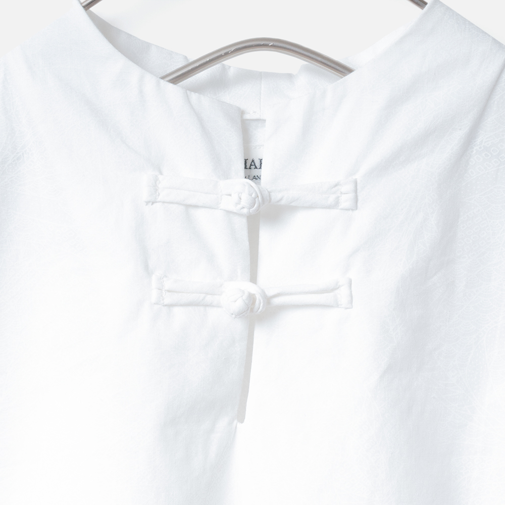 [Harriss Hawaii] Stand collar shirt