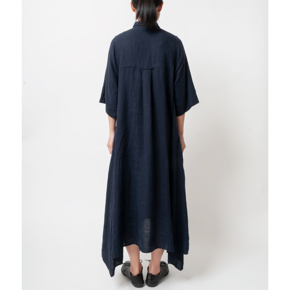 [RaPPELER]  French linen canvas one piece_navy