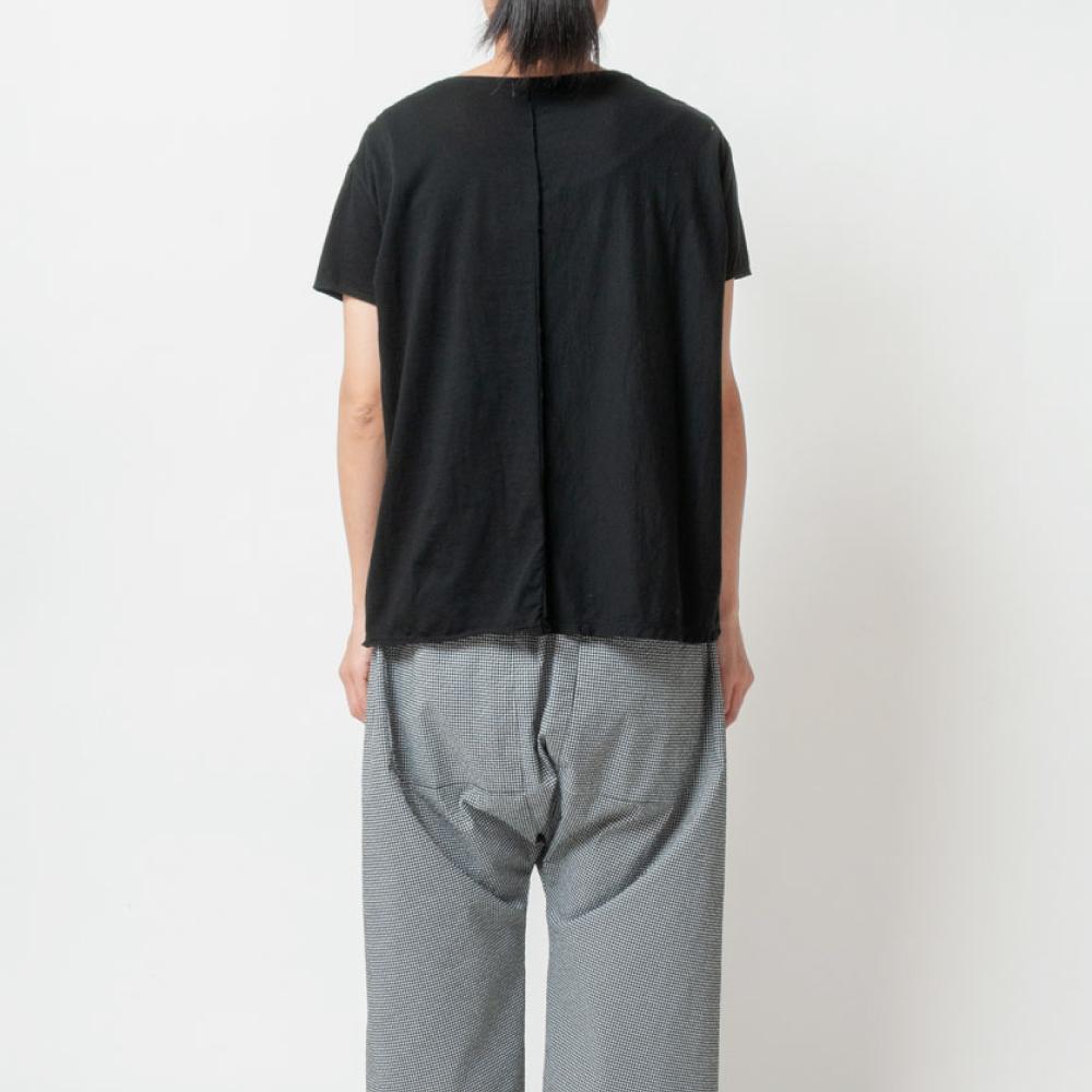 [RaPPELER]  60/Supima Tenjiku Cutoff Short SLV Pullover_black