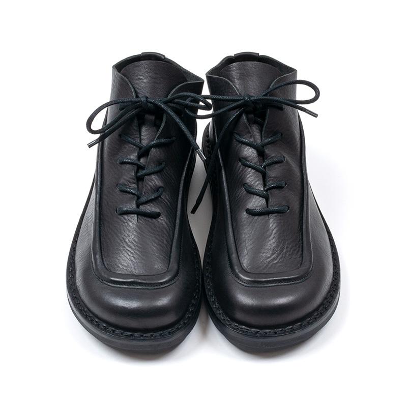 [trippen] Compound m ( black-waw/black-sat )
