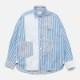 [RaPPELER] Stripe & Pin Tuck Cloth Shirt_bule