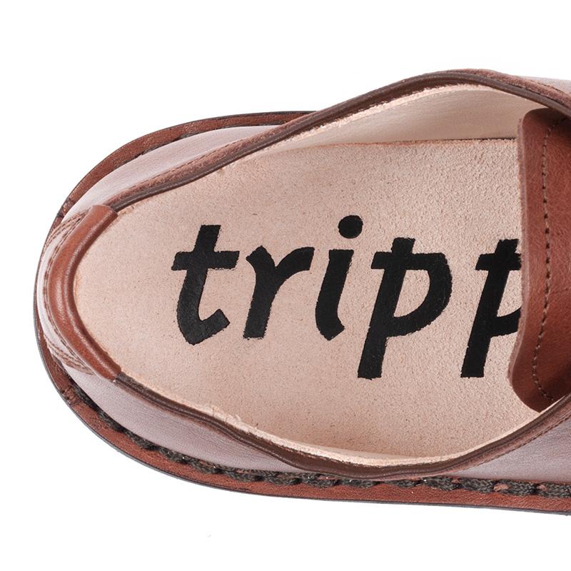 [trippen] Derby m ( brown-waw )