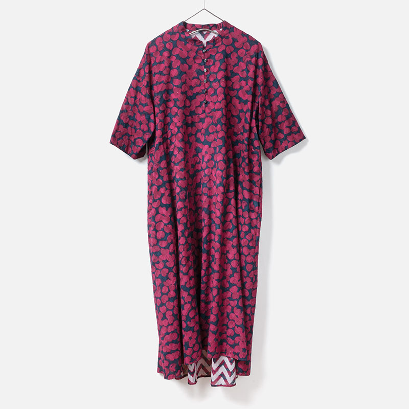 [Harriss] ORIGINAL DOT CUT JACQURAD PRINT ONE-PIECE
