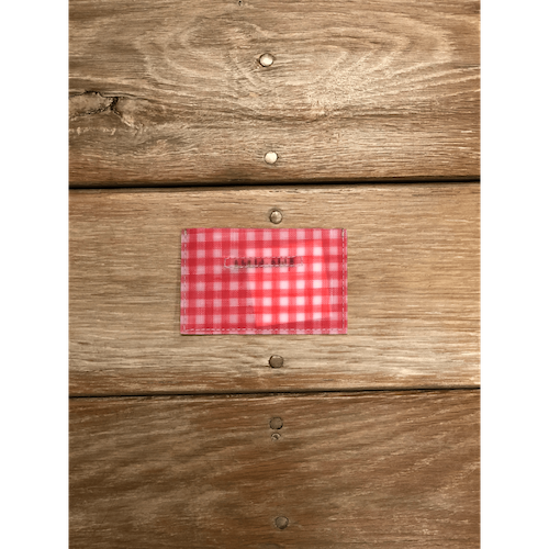 [Harriss SELECT] LUISA CEVESE CARD CASE_RED GINGHAM