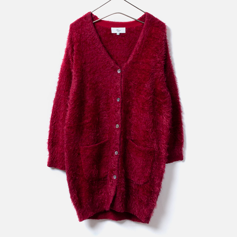 [Harriss] FEATHER KNIT CARDIGAN