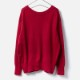 [Harriss] FEATHER KNIT PULL OVER