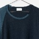 [RaPPELER] CASHMERE BLEND CUT AND SEW_NAVY