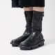 [trippen] Mid-Boot f ( black-buf )