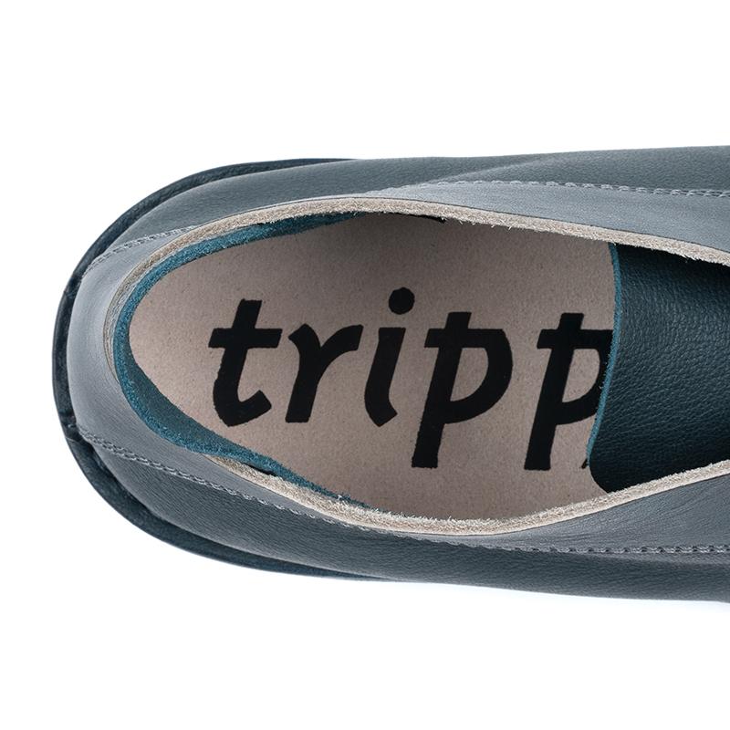 [trippen] Escape m ( navy-alb / stone-bi-waw )
