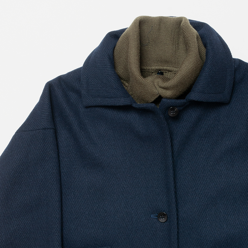 [RaPPELER] MELTON COAT W/ RIB WARMER